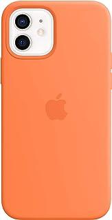 Apple Silikonskal med MagSafe (till iPhone 12 och iPhone 12 Pro) - kumquat
