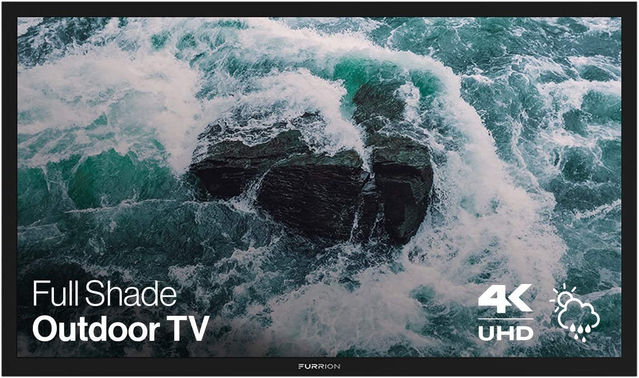 Furrion Aurora - Full Shade Series 55-Inch Weatherproof 4K Ultra-High Definition LED Outdoor Television with Auto-Brightness Control for Outdoor Entertainment - FDUF55CBR