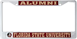 Desert Cactus Florida State University Alumni Metal License Plate Frame for Front Back of Car Officially Licensed FSU Seminoles (Alumni)