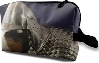 Lxianru Guinea Pig Wearing Armor Travel Cosmetic Bag,Lightweight and Convenient Personalized Custom Cosmetic Bag