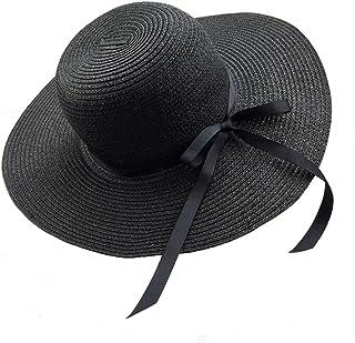 Chapter Seven, cappello da sole da donna, pieghevole, con fiocco, a tesa larga, cappello di paglia estivo, da spiaggia, protezione UV, UPF50