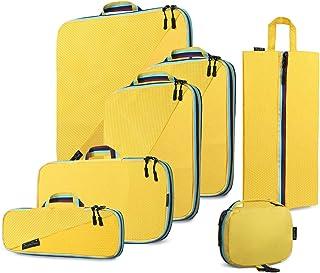 مكعبات تعبئة ضاغطة من سوبا ساك، منظمات حقائب السفر وحقيبة غسيل وحقيبة أحذية للسفر، مجموعة حقائب ضغط