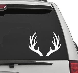 Seek Racing Deer Antlers Decal CAR Truck Window Bumper Sticker Buck Hunting Fishing