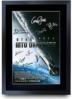 HWC Trading Star Trek Into Darkness The Cast Gifts - Póster impreso con autógrafo para fans de la película Memorabilia – A3 enmarcado