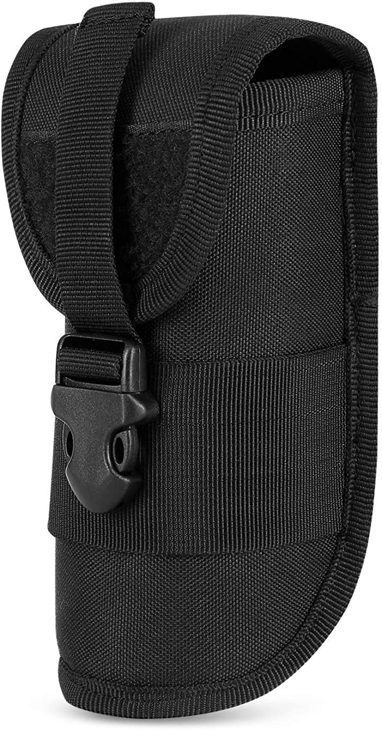 Huntvp Molle Tactical Eyeglasses Hard Case Sunglasses Bag Carrying Case Nylon with Buckle