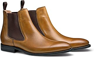 The Storm: Hand Crafted Premium Men's Leather Chelsea Dress Boot