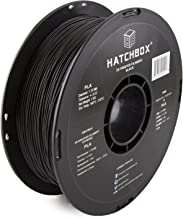 HATCHBOX PLA 3D Printer Filament, Dimensional Accuracy +/- 0.03 mm, 1 kg Spool, 1.75 mm, Black
