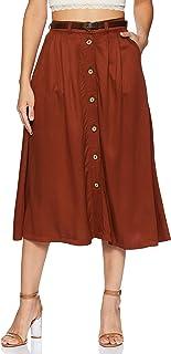 Amazon Brand - Symbol Cotton Pleated Skirt