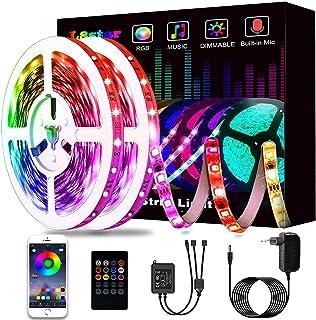 Ruban à LED 15M, L8star LED Ruban Intelligent Bande Lumineuse Led 5050 RGB SMD Multicolore Bande LED Lumineuse avec Téléco...