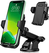 VANMASS Universal Car Phone Mount,?Patent & Safety Certs?Upgraded Handsfree Stand, Dash Windshield Air Vent Phone Holder for Car, Compatible iPhone 11 Pro Xs Max XR X 8 7 6, Galaxy s20 Note 10 9 Plus