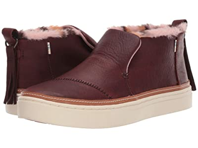 TOMS Paxton (Dark Brown Pull Up WR Leather/Faux Leo Fur) Women