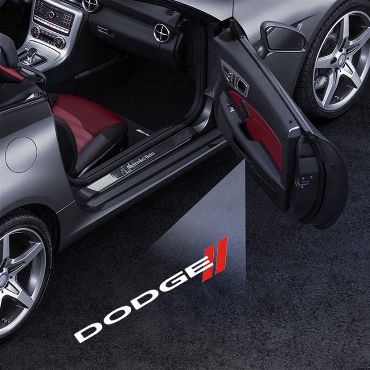 Car Door Light Logo Projector for Dodge Charger Caravan Grand ...