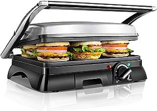 Aigostar Samson 30KLU - 2000W Appareil à croque monsieur, grill à sandwich et panini multifonctions. Très larges plaques a...