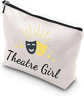 WCGXKO Theatre Girl Zipper Makeup Bag Broadway Musical Lover Theatre Nerd (Theatre Girl)