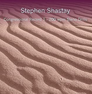 Congressional Record 1 - 200 wpm Steno Drills