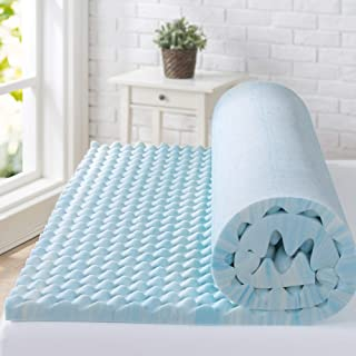 Zinus 2 Inch Swirl Gel Memory Foam Convoluted Mattress Topper / Cooling, Airflow Design / CertiPUR-US Certified, Queen