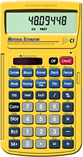 Calculated Industries 4019 Material Estimator Calculator   Finds Project Building Material Costs for DIY's, Contractors, Tradesmen, Handymen and Construction Estimating Professionals (Renewed),Yellow