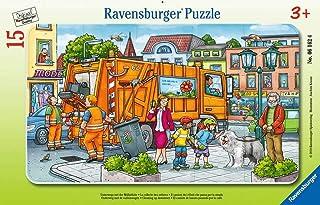 Ravensburger Puzzle pour Enfants 06162 - Les Voyages avec la vidange des déchets - Puzzle Cadre