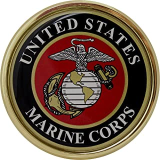 United States US Marine Corps USMC Gold Plated Triangle Dome Premium Metal Car Truck Motorcycle Emblem