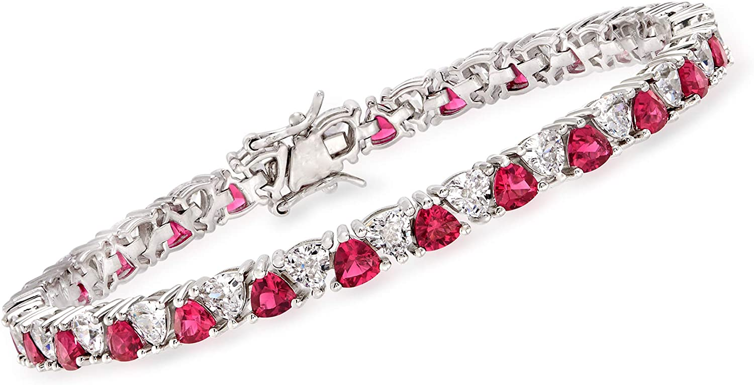Ross-Simons 5.00 ct. t.w. Simulated Ruby and 5.00 ct. t.w. CZ Te