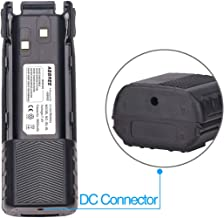 ABBREE UV-82 BL-8L with DC Connector 7.4V 3800mAh li-ion Battery for Baofeng UV-82 Two Way Radio (Including UV-82HP, UV-82X, UV-82C, UV-8D,UV-82L and Many More) Black
