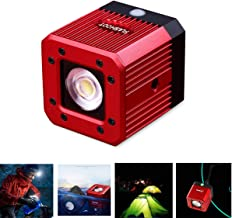 Dazzne 8W 200LUX/1M Aluminum Alloy Waterproof LED Video Light Mini Diving Underwater Light Action Camera Lighting with 1/4