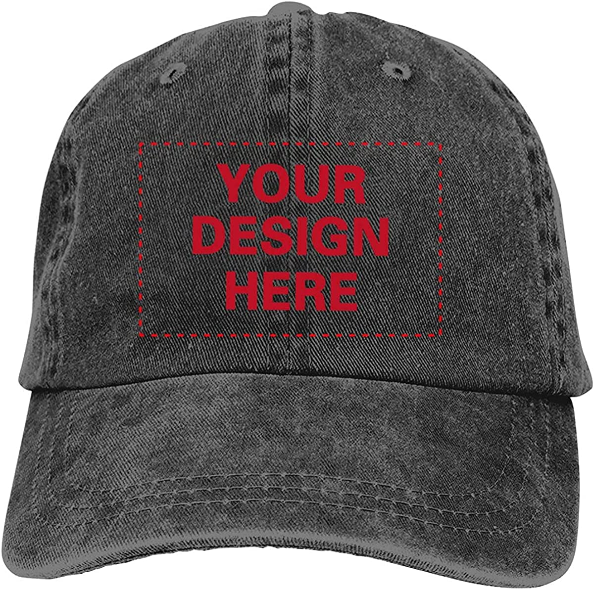 Custom Classic Baseball Cap, Design Your Own Vintage Washed Dad Hat Personalized Name Text Logo, Unisex Adjustable Hat