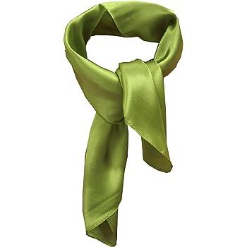 Silk square scarf pure color head scarf blend neckerchief
