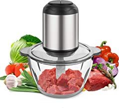 Food Chopper 8-Cup 350W Food Processor by Kuopry, Food Processor for Meat, Vegetables, Fruits and Nuts, 8-Cup Blenders for Kitchen, Fast & Slow 2 Speeds,4 Sharp Blades BPA-Free Plastic Bowl