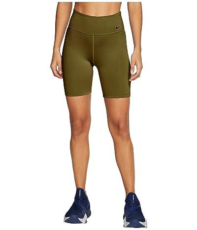 Nike One 7 Shorts (Olive Flak/White) Women