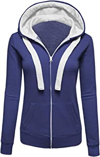Multi Color Polyester Zip Up Hoodie For Women