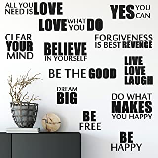 Vinyl Wall Quotes Stickers Inspirational Quotes Decals Peel and Stick Motivational Wall Decals Believe in Yourself Be The ...