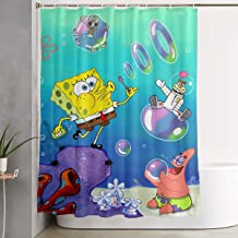 LIUYAN Shower Curtain with Hook - Spongebob Squarepants Waterproof Polyester Fabric Bathroom Decor 60 X 72 Inches