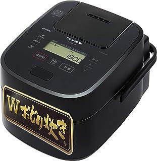 パナソニック 炊飯器 5.5合 高級モデル Wおどり炊き スチーム&可変圧力IH式 ブラック SR-VSA100-K