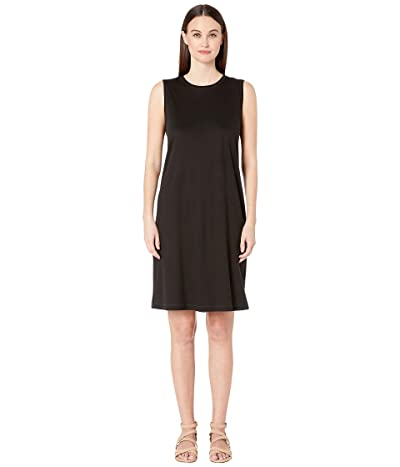 Eileen Fisher Fluid Tencel Shift Dress (Black) Women