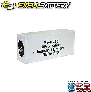 Exell 413A Alkaline 30V Battery NEDA 210, 20F20, 523, 8123, A413, B123, BA 305/U, BLR-123, BLR123, E210, ER-413, M123, S123, U20, VS085