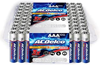 ACDelco AAA Batteries, Alkaline Battery, Bulk Pack, 100 Count