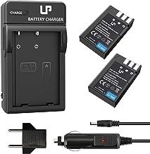 EN-EL9 EN EL9a Battery Charger Pack, LP 2-Pack Battery & Charger, Compatible with Nikon D40, D40X, D60, D3000, D5000 Camer...