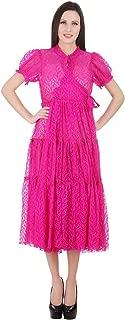 Devaleena Creations Magenta Net- Tier style Anarkali- for Ladies