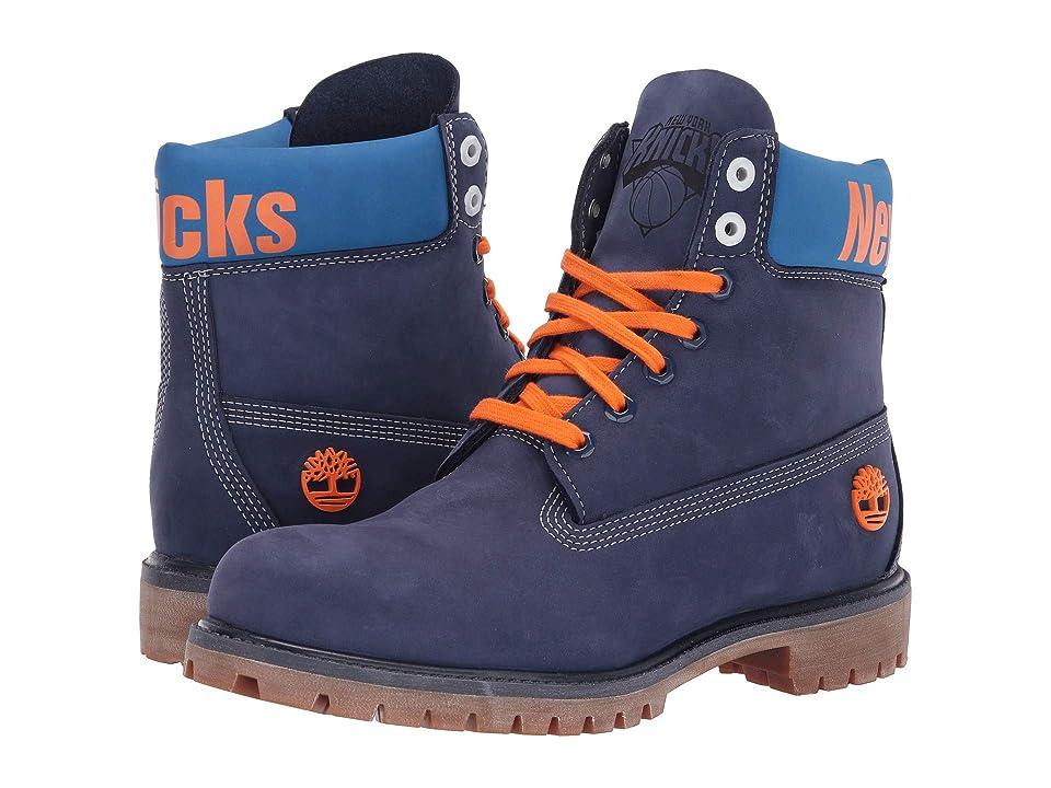 Timberland New York Knicks 6 Premium Boot (Dark Blue Nubuck) Men