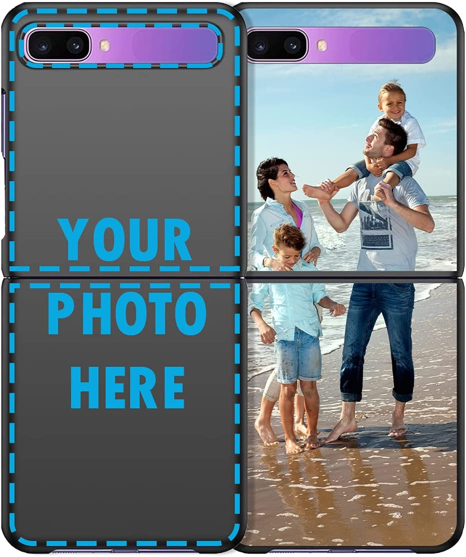 Design Your Own Cover for Galaxy Z Flip(Not Fit Galaxy Z Flip 3), Personalized Photo Case Customized Picture Case Custom Phone Case Awwtee Make Your Own Case Protective Cover Shockproof Soft Black