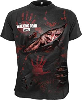 Spiral Mens - Daryl - All Infected - Walking Dead Ripped T-Shirt Black
