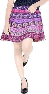 Sttoffa Short Skirt for Girls 15 Inch Length Elastic Band Rajasthani Skirt D3