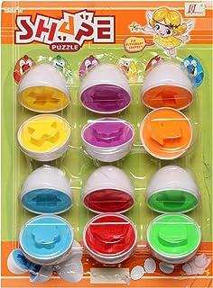 لعبة الالغاز التعليمية على شكل بيض للجنسين, متعدد الالوان