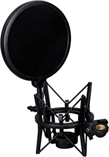 Weymic® Intergrated Shock Mount with Pop Filter for Large Diameter Condenser Microphone for Audio-Technica AT2020
