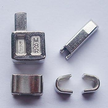 2 juegos de plata # 8 caja de cremallera cabeza de metal pin de inserción de cremallera deslizadores para fácil con cremallera para reparación, kit de reparación de cremallera (# 8): Amazon.es: Hogar