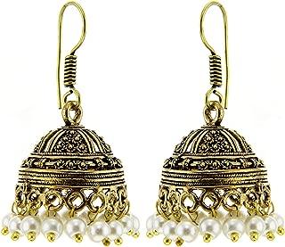 Kaizer German Silver Jhumki Earring for Women/Girls (Gift) -DS-109