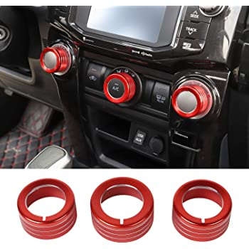 Red JeCar Center Console Navigation Panel Trim ABS Console Decoration Cover for Toyota 4Runner 2010-2019