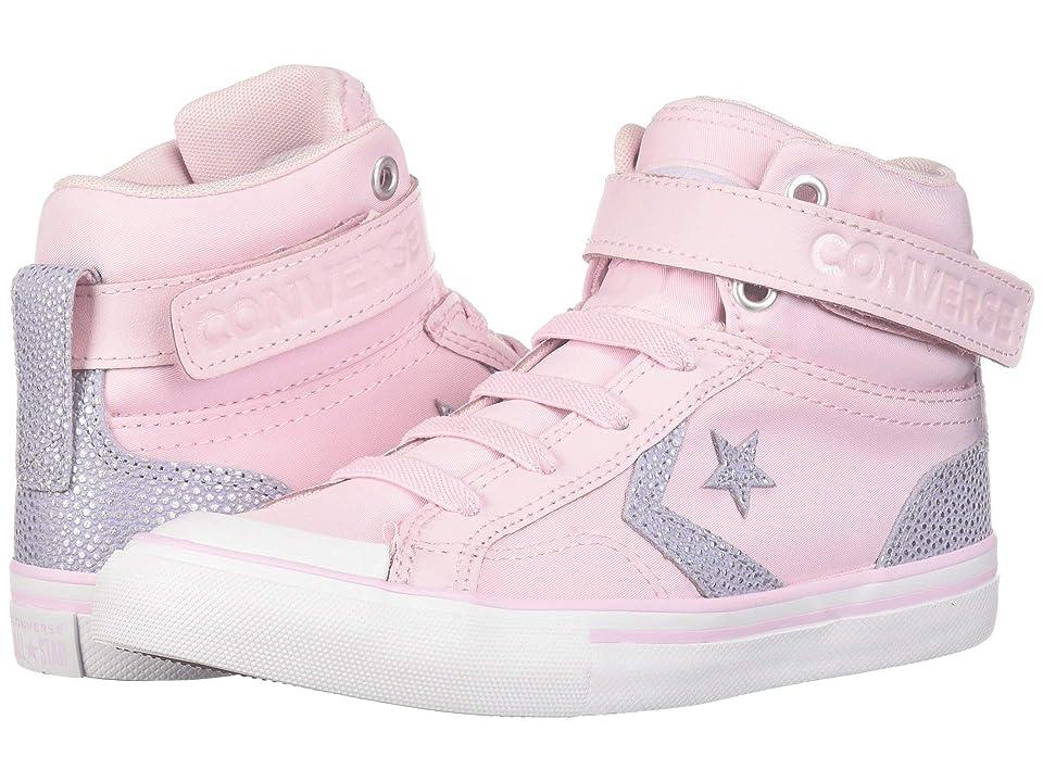 Converse Kids Pro Blaze Strap Hi (Little Kid/Big Kid) (Pink Foam/Oxygen Purple/White) Girls Shoes