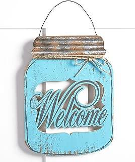The Lakeside Collection Mason Jar Door Hanger Welcome